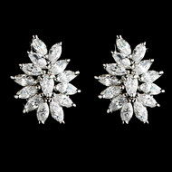 Stunning Marquise Cubic Zirconia Wedding Earrings