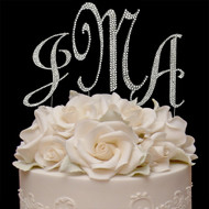 Swarovski Crystal Covered Monogram Cake Toppers