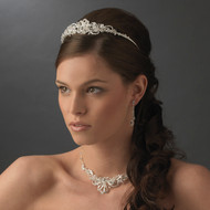 Stunning Crystal Tiara with Matching Jewelry Set