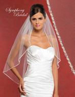 Symphony Bridal Beaded Edge Wedding Veil 5910VL