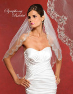 Symphony Bridal Beaded Wedding Veil 5904VL