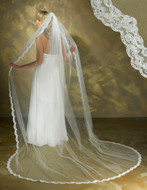 Symphony Bridal 5340VL Cathedral Length Lace Wedding Veil