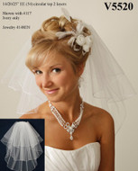 "Three Layer 25"" Shoulder Length Wedding Veil - V5520"