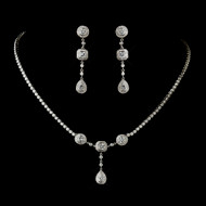 Vintage Inspired CZ Wedding Jewelry Set ne8103-6