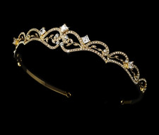 Vintage Inspired Gold Plated Bridal Tiara