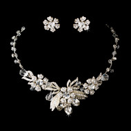 Vintage Inspired Silver Plated Wedding Jewelry Set