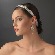 Vintage Look Satin Bridal Ribbon Headband