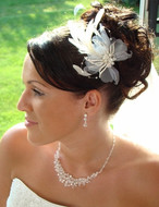 Vintage Style Bridal Hair Feather Fascinator Comb