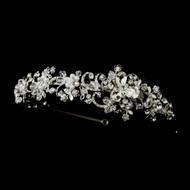 White Pearl and Crystal Side Accent Wedding Headband - sale!