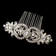 Freshwater Pearl and Rhinestone Wedding Comb