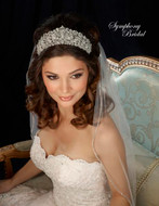 Regal Rhinestone Wedding Tiara 7321CR by Symphony Bridal