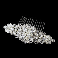 Ivory Pearl and Rhinestone Wedding Comb