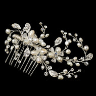 Freshwater Pearl and Rhinestone Vine Wedding Comb
