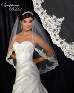 Lace Edge Wedding Veil 6317VL by Symphony Bridal