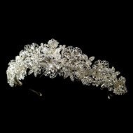 Magnificent Rhinestone and Crystal Floral Wedding Tiara