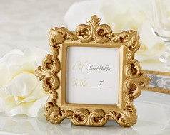 "96 ""Royale"" Gold Baroque Place Card Holder Wedding Favors"