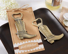 "96 ""Just Hitched"" Cowboy Boot Bottle Openers"