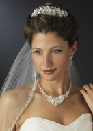 Glamorous Wedding Tiara and Crystal Jewelry Set