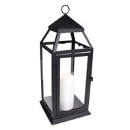 8 Large Black Contemporary Lanterns for Wedding Centerpieces