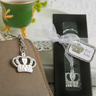 144 Majestic Crown Key Chain Wedding and Quinceanera Favors