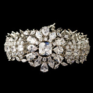 Dramatic Multi Cut CZ Wedding Bracelet
