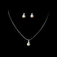 5 sets Boxed  Ivory Pearl Drop Bridesmaid Jewelry