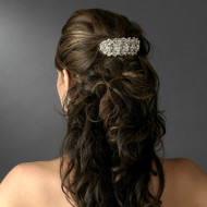 Silver Plated Crystal Wedding and Prom Barrette