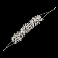 Crystal and Rhinestone Wedding Bracelet