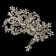 Couture Ivory Pearl and Rhinestone Wedding Hair Comb