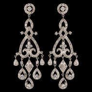 Pave CZ Chandelier Wedding Earrings e82011
