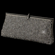 Rhinestone Covered Evening Bag Clutch in Black