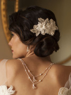 Ivory Lace Wedding Comb