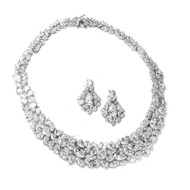 Glamorous Cubic Zirconia Wedding Jewelry Set by Mariell 2028S