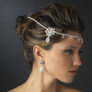Kim Kardashian Inspired Rhinestone Wrap Headband in Rhodium