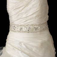 Glamorous Rhinestone Beaded Wedding Belt Sash