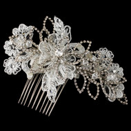 Lace, Crystal and Rhinestone Wedding Hair Comb