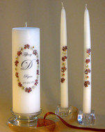 Autumn Elegance Personalized Unity Candle Set