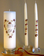 Autumn Elegance Heart Personalized Unity Candle Set