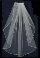 Beaded Pearl Wedding Veil JL Johnson Bridal C383