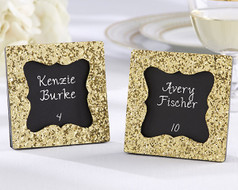 96 All that Glitters Gold Frame Favors with Chalkboard Insert