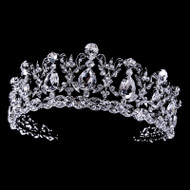 Regal CZ and Rhinestone Vintage Inspired Wedding Tiara