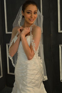 Lace Fingertip Length Wedding Veil Elena Designs E1146S