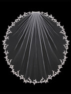 Beaded Lace Edge Fingertip Length Wedding Veil enVogue V1392SW
