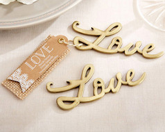 96 Love Antique Gold Bottle Opener Wedding Favors