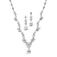 Luxurious CZ Vine Wedding Jewelry Set