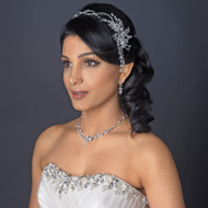 Crystal Hair Vine Wedding Headband and Jewelry Set