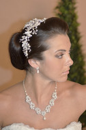 Pearl and Rhinestone Headband Ansonia Bridal 8601