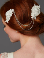 English Rose Lace Victorian Bridal Comb