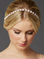 Rose Gold Preciosa Crystal Wedding Headband