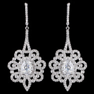 Glamorous CZ Drop Wedding and Formal Earrings